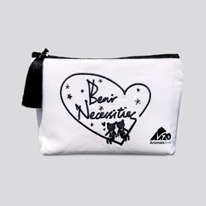 """Bear necessities"" toiletry bag"