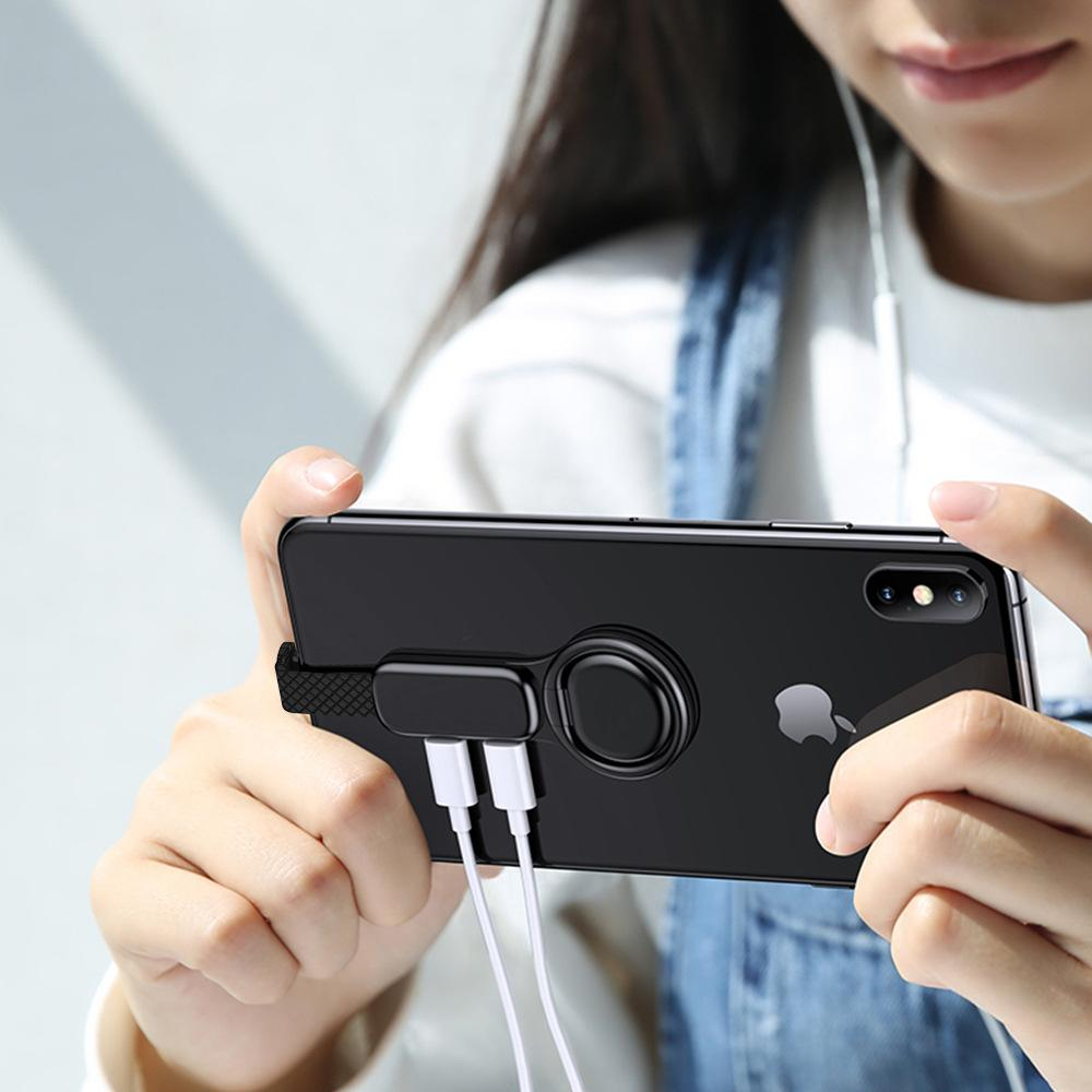(Buy 2 free shipping)Creative ring buckle charging headset combo connector