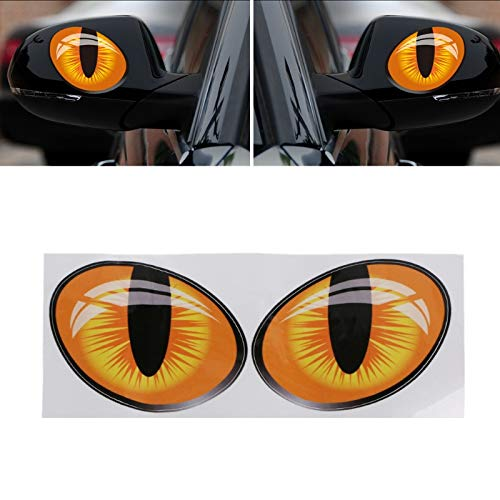 Pair 3D Reflective Cat Eyes Car Stickers
