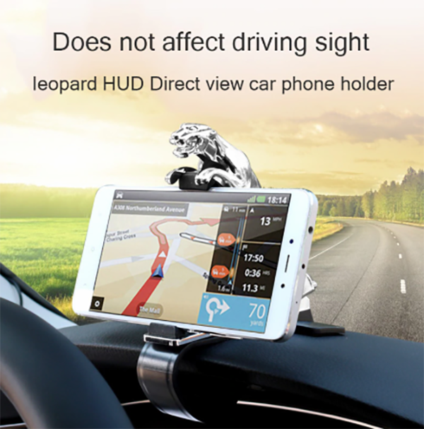 HOT SALE! Car Phone Holder Dashboard Mount Universal Leopard body Cellphone Clip