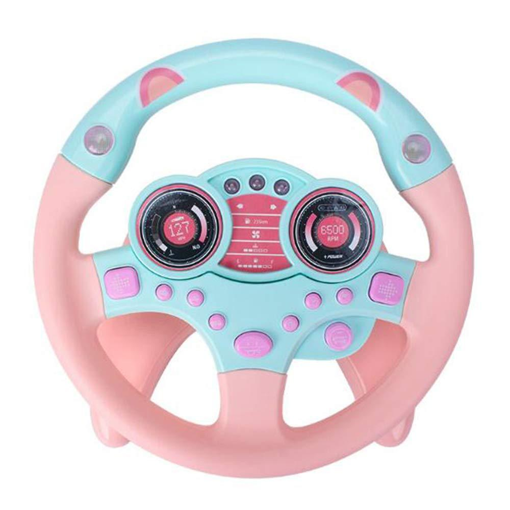 Cars Simulated Driving Steering Wheel Toy With Lights & Music