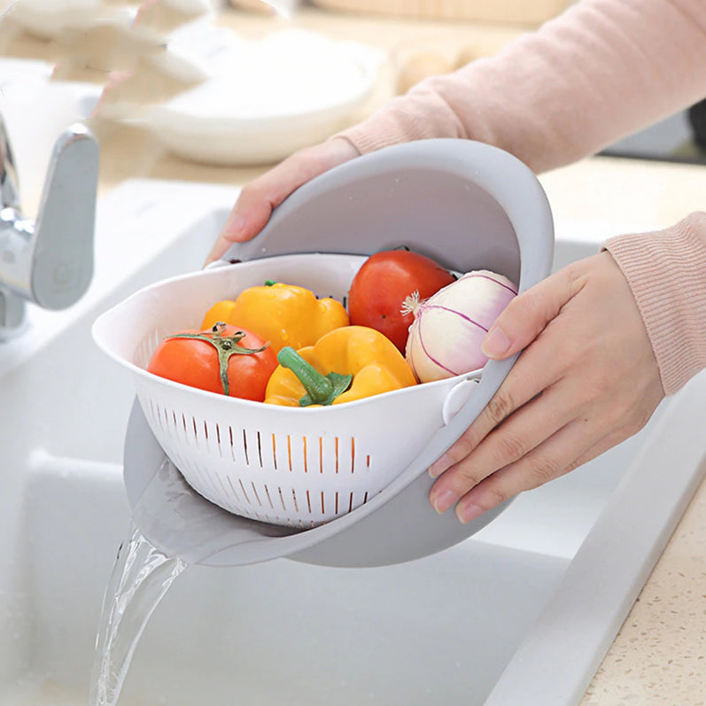 【HOT SALE】Double Wash Drain Basket
