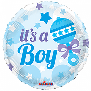 "Folieballon 18"" med rangle ""It's a Boy"""
