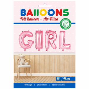 "Folieballon ""GIRL"" 41 cm"