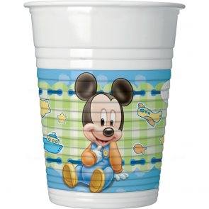 Baby Mickey Mouse krus i plastik 200 ml
