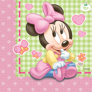 Baby Minnie Mouse servietter 33x33 cm