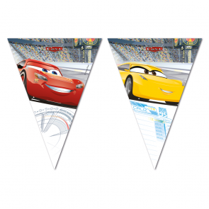 Biler | Cars 3 flagbanner med 9 flag