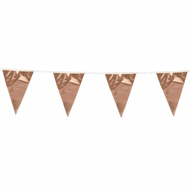 Flagbanner rose gold (10 meter) - flag 20x30 cm