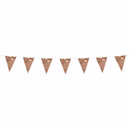 Flagbanner rose gold (3 meter)