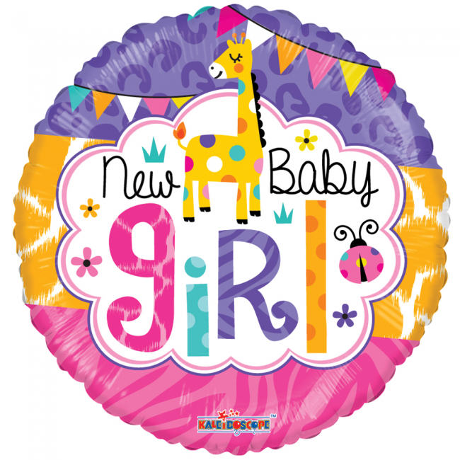 Folieballon New Baby Girl