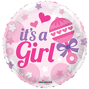 "Folieballon 18"" It's a Girl"