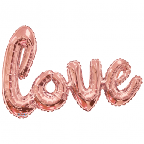 "Folieballon ""Love"" rose gold 36"""