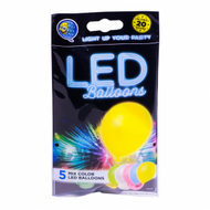 LED balloner assorteret 5 stk.