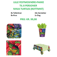 Rise Of The Teenage Mutant Ninja Turtles Festpakke til 8 personer (lille)