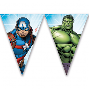 Mighty Avengers flagbanner med 9 flag