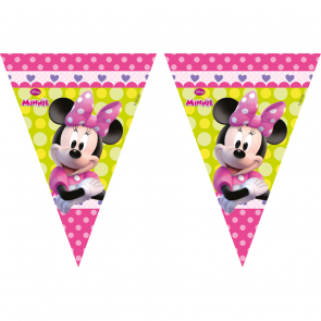 Minnie Mouse flagbanner med 9 flag