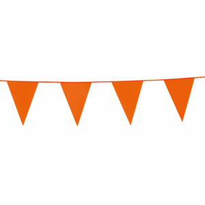 Flagbanner - orange - 10 meter . 20x30 cm flag