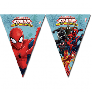 Spiderman flagbanner med 9 flag