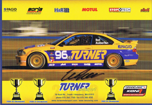 Autographed Signature Card - Turner Motorsport Team 2009 #96