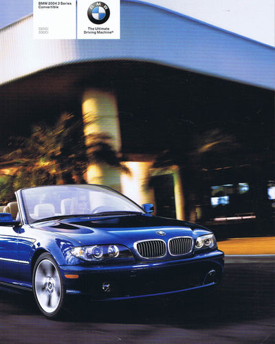 Brochure - BMW 2004 3 Series Convertible 325Ci 330Ci - E46 Brochure (1st version)