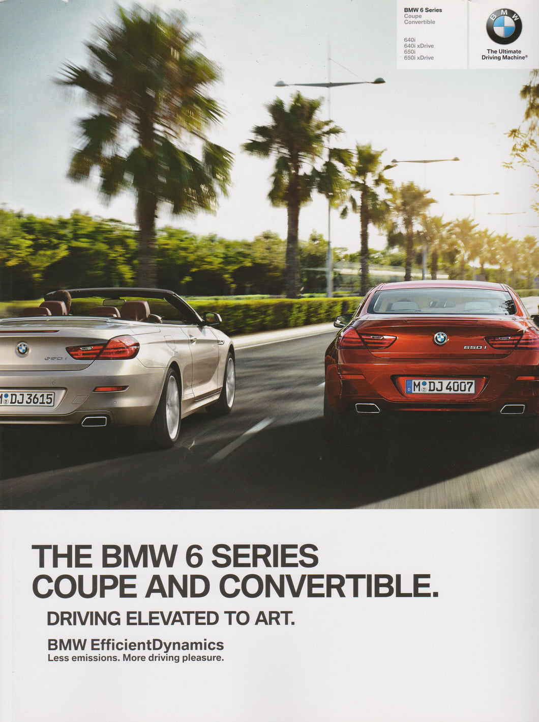Brochure - The BMW 6 Series Coupe and Convertible.  - 2014 F13 Brochure (2nd version)