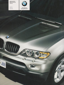 Brochure - BMW 2005 X5 Sports Activity Vehicle X5 3.0i X5 4.4i X5 4.8is- E53 Brochure (2nd version)