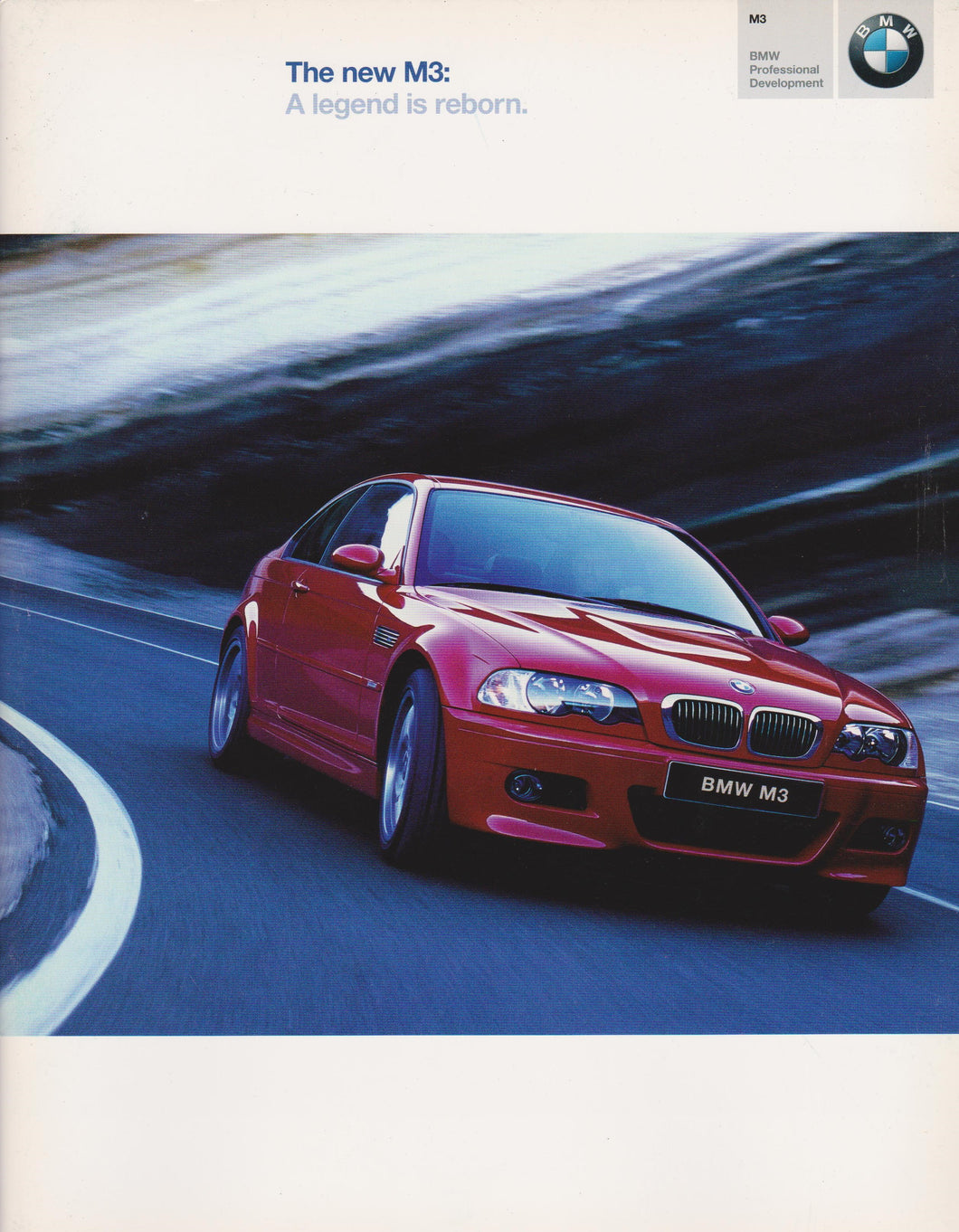 Brochure - The New M3: A legend is reborn - 2001 E46 Brochure