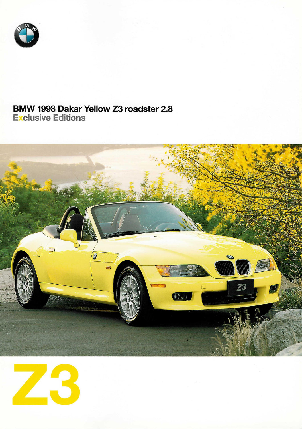 Brochure - BMW 1998 Dakar Yellow Z3 roadster 2.8 (E36/7)