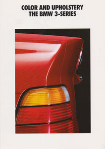 Brochure - Color and Upholstery The BMW 3-Series (1993)