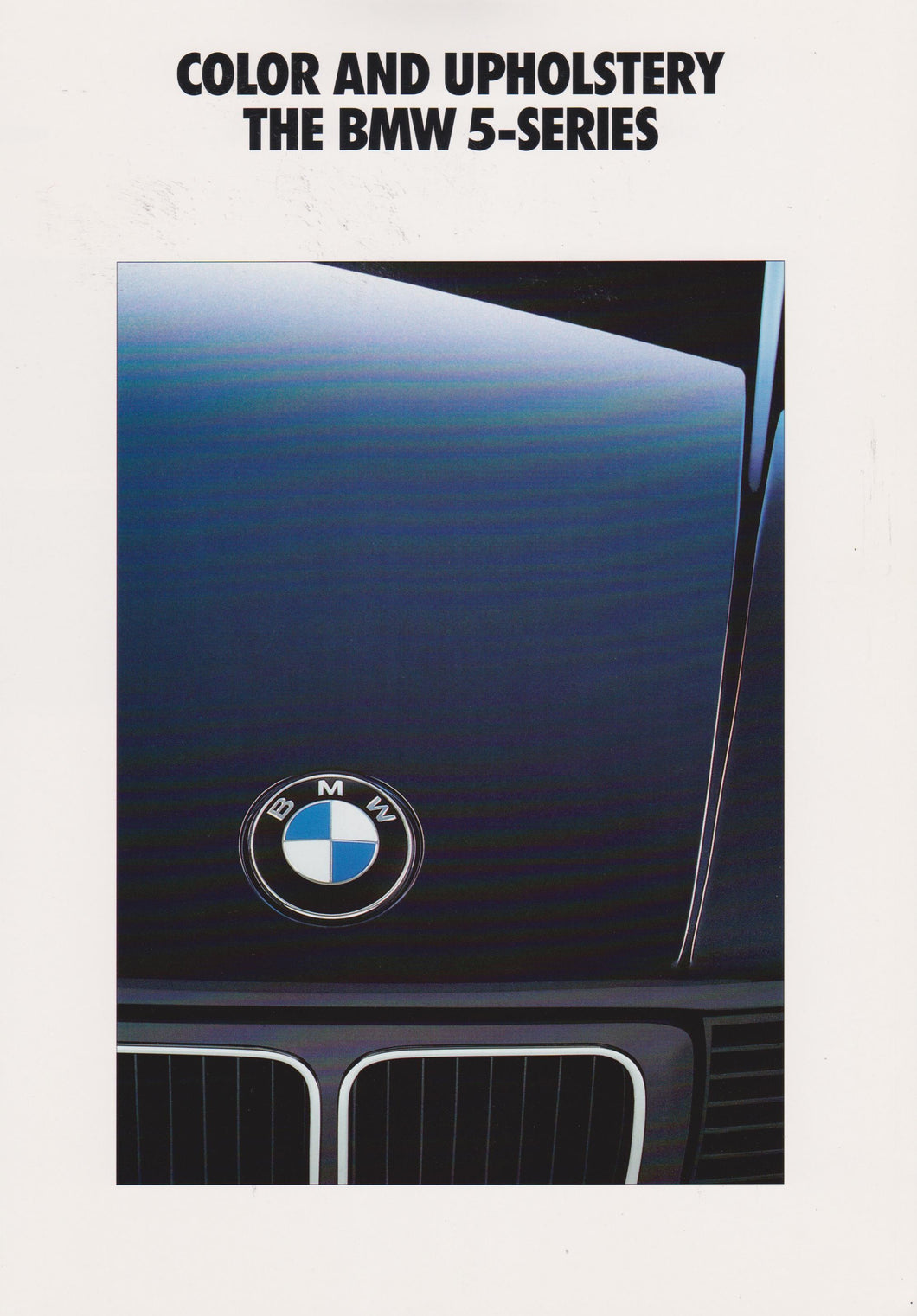 Brochure - Color and Upholstery The BMW 5-Series (1992)