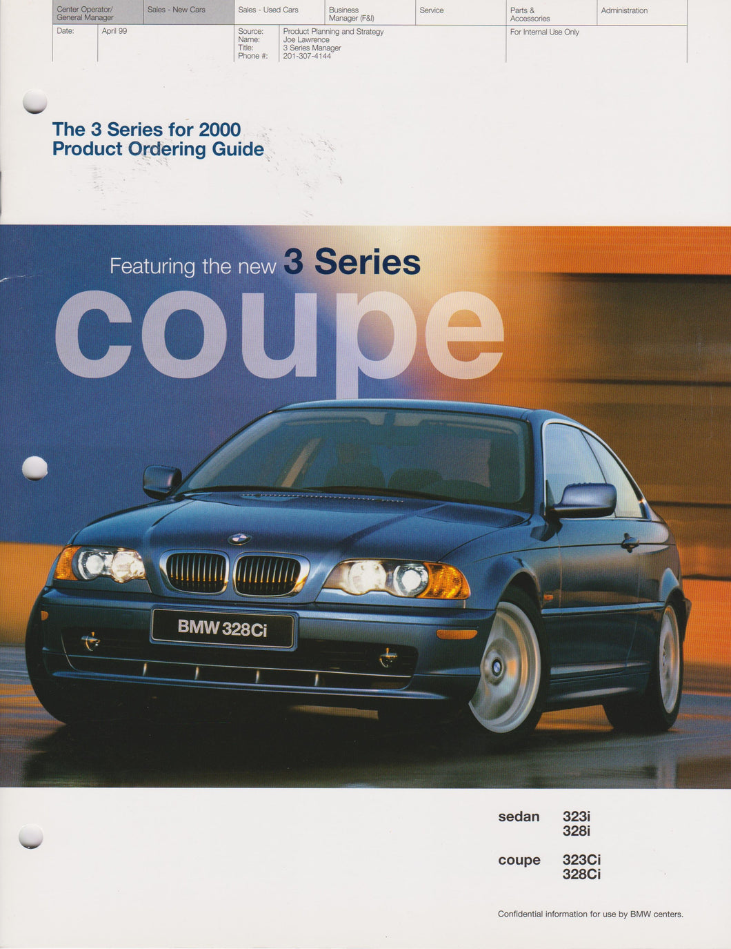Brochure - The 3 Series for 2000 Product Ordering Guide
