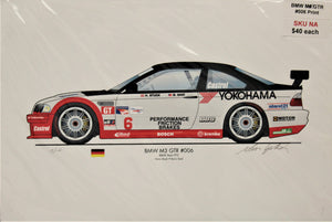 BMW M3 GTR #006, numbered print