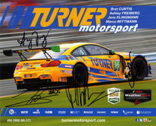 Load image into Gallery viewer, Signature Card - Turner Motorsport Bret Curtis Ashley Freiberg Jens Klingmann Marco Wittmann #96 Signature Card