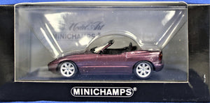Diecast model 1:43 scale, 1987 E30 BMW Z1- Purple metallic