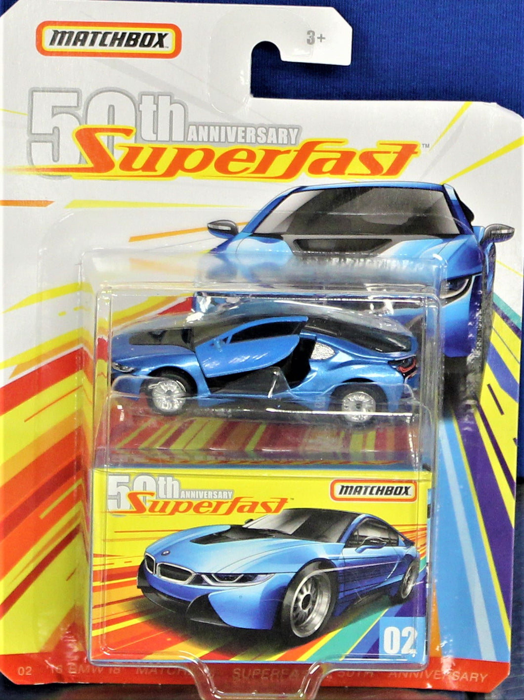 Matchbox Mattel 2018 SuperFast - '16 BMW i8 (Blue)