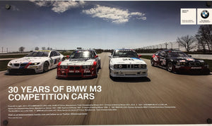 Poster - 30 Years of BMW M3 Competition Cars