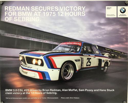 Poster - Redman Secures Victory For BMW At 1975 12 Hours Of Sebring