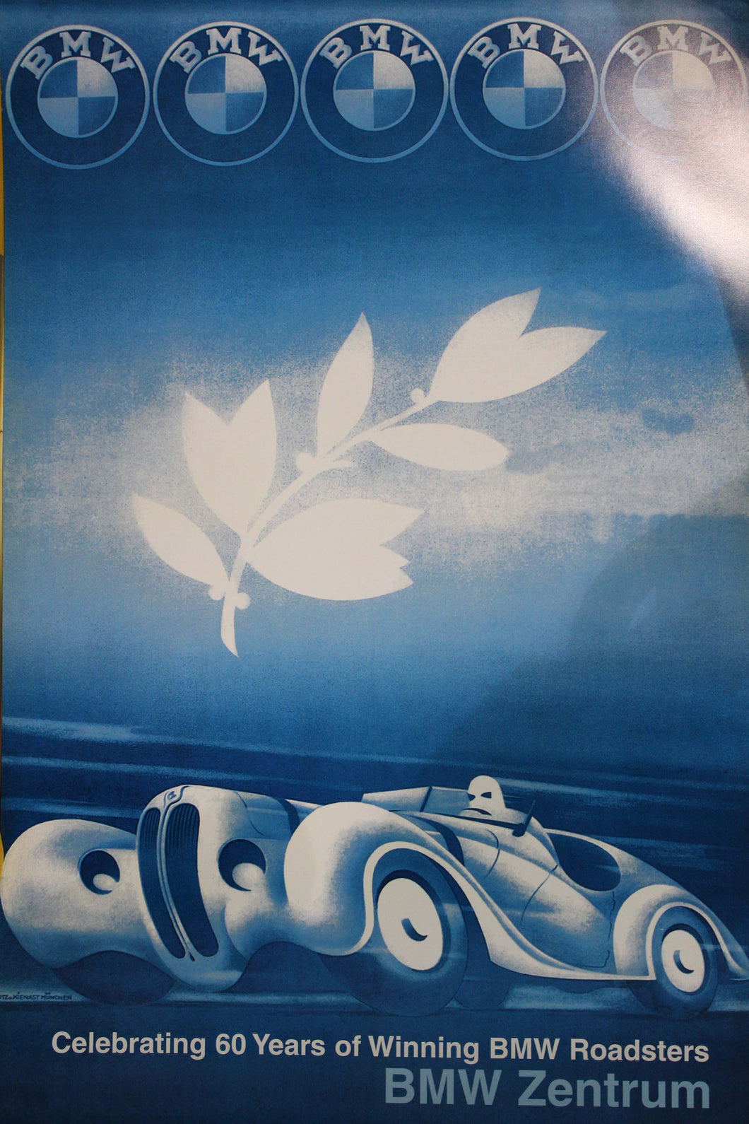 Poster - Celebrating 60 Years of Winning BMW Roadsters BMW Zentrum