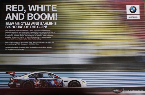 Poster - RED, WHITE AND BOOM! BMW M6 GTLM WINS SAHLEN'S SIX HOURS OF THE GLEN!