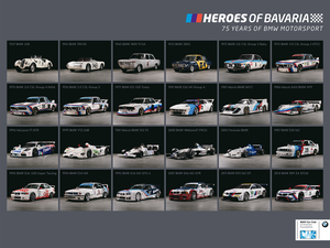 Poster - Heroes of Bavaria - Classic BMW Motorsport