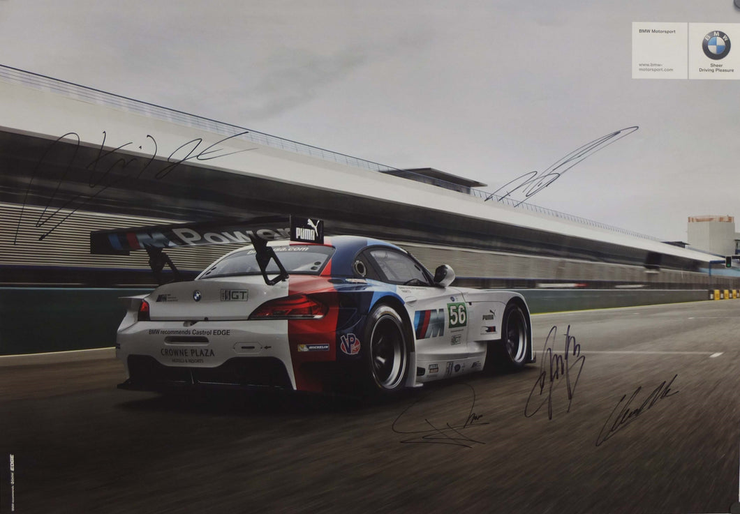 Autographed Poster - BMW Sheer Driving Pleasure - BMW RLL E89 Z4 GT double sided
