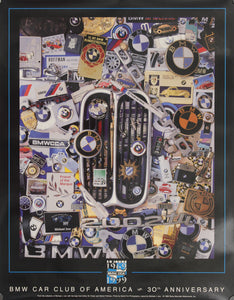 Poster-BMW Car Club of America 30th Anniversary 1969 to 1999