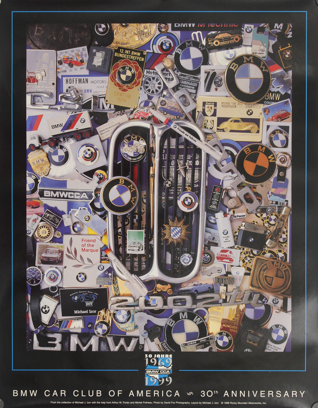 Poster-BMW Car Club of America 30th Anniversary 1069 to 1999