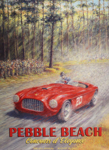 Poster - Pebble Beach Concours d' Elegance, The 65th Annual, August 16th 2015