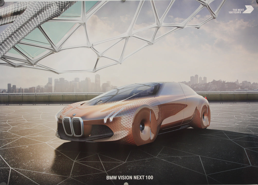 Poster - BMW vision Next 100 Years, The Next 100 Years, BMW News Group, 2 sided poster
