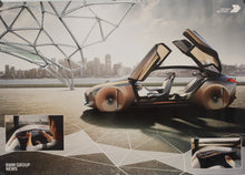 Load image into Gallery viewer, Poster - BMW vision Next 100 Years, The Next 100 Years, BMW News Group, 2 sided poster