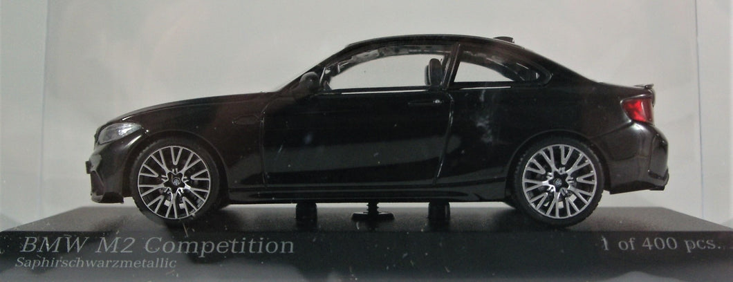 Minichamps 1:43 2019 BMW F22 M2 Competition - Black Metallic. 1 of 400