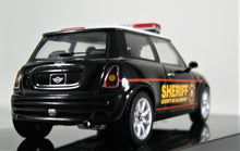 Load image into Gallery viewer, IXO 1:43 2004 Mini Cooper Allegheny Sheriff car White over Black.