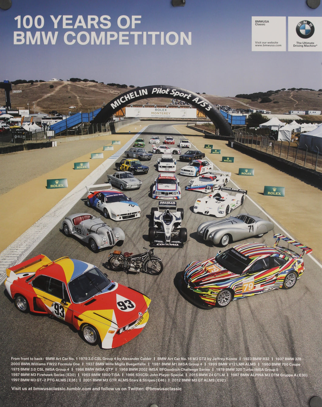 Poster - 100 Years of BMW Competition