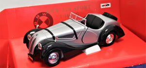 1:16 Silver/Black  BMW  PW   328 Roadster